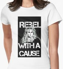 Rebel with a cause  Womens Fitted T-Shirt