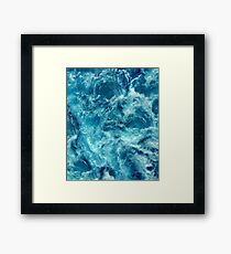 Ocean is shaking Framed Print