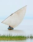 Dhow on Lake Victoria, Tanzania by Linda Sparks