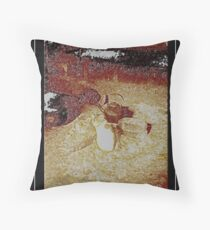 ketl with kity  Throw Pillow
