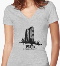 1984 a tape odyssey ~ space Women's Fitted V-Neck T-Shirt
