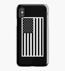 American Flag - Black and White Version iPhone Case/Skin
