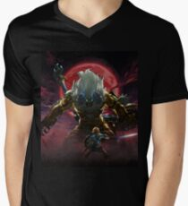 Camiseta para hombre de cuello en v Zelda - Gold Lynel - Blood Moon