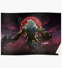 Zelda - Gold Lynel - Blood Moon Poster