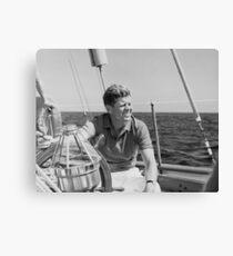 JFK Sailing On Vacation Canvas Print