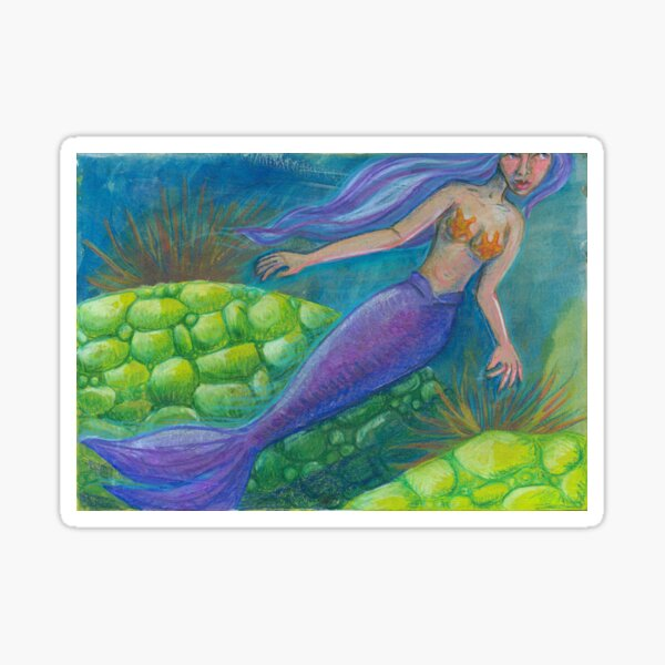 The Mermaid and The Turtles Sticker