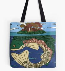 Fish Island in Fall Tote Bag