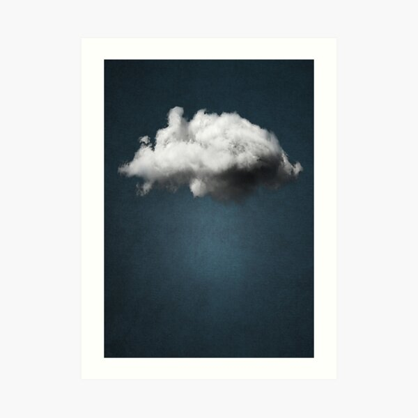 WAITING MAGRITTE Art Print