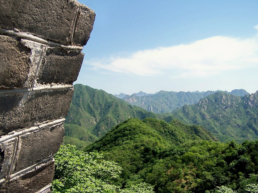 Great Wall, Mutianyu, Beijing 5 by Carrie Norberg