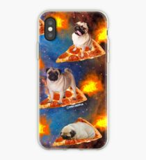 Pugs in Space Riding Pizza iPhone Case