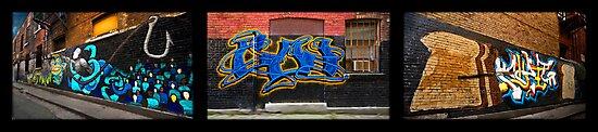 Graffiti Triptych by billbirtch