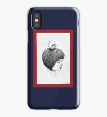 Little Girl & Mouse iPhone Case