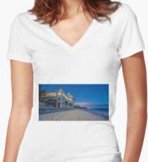Cottesloe Beach Western Australia Women's Fitted V-Neck T-Shirt
