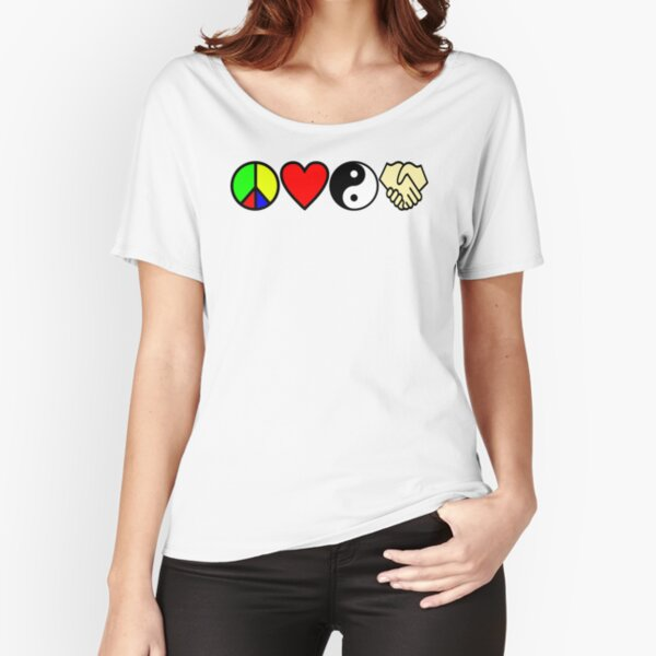 PLUR - Peace Love Unity Respect Symbols Relaxed Fit T-Shirt