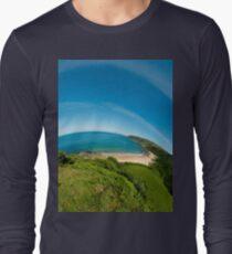 Kinnagoe Bay (as half a planet :-) Long Sleeve T-Shirt