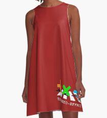 Sheerio-Effect Design Crosswalk A-Line Dress