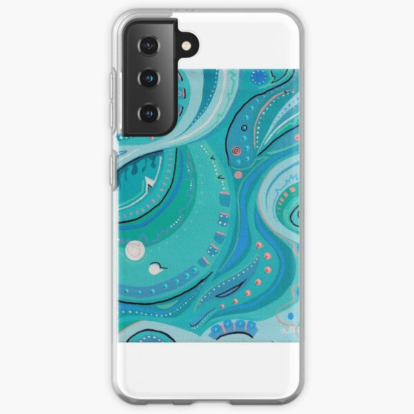 Wish 7 Turquoise and Rose Samsung Galaxy Soft Case