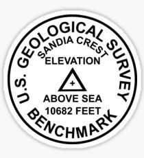 Sandia Crest, New Mexico USGS Style Benchmark Sticker