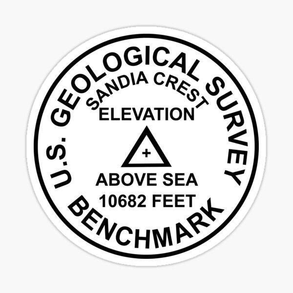 Sandia Crest, New Mexico USGS Style Benchmark Sticker