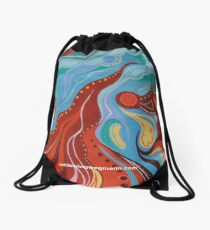 Wish 9 Red, Blue and Yellow  Drawstring Bag