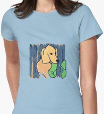 GOLDEN RETRIEVER WELCOME HOME  Womens Fitted T-Shirt