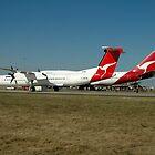 Avalon Airshow-QANTAS DHC-8 & 747,Australia 2005 by muz2142