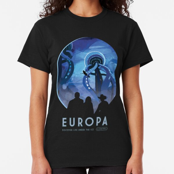 NASA JPL Space Tourism: Europa (8K resolution) Classic T-Shirt