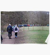 Farndale was a little crowded today! Poster