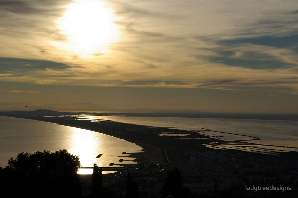 sunset over sete by ladytreedesigns