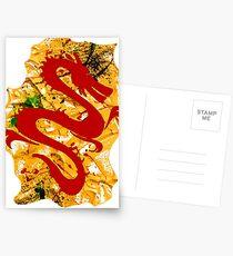 RED DRAGON Postcards