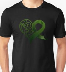 Decorative Heart with Green Ribbon T-Shirt