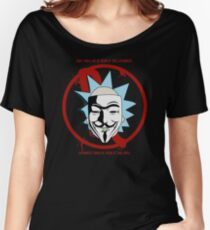Rick for Vendetta - Rick and Morty and V for Vendetta Crossover Women's Relaxed Fit T-Shirt