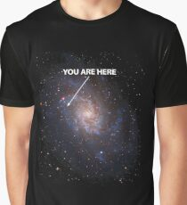 You Are Here Universe Galaxy Graphic T-Shirt