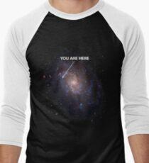 You Are Here Universe Galaxy Men's Baseball ¾ T-Shirt