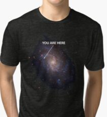 You Are Here Universe Galaxy Tri-blend T-Shirt