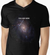 You Are Here Universe Galaxy Men's V-Neck T-Shirt