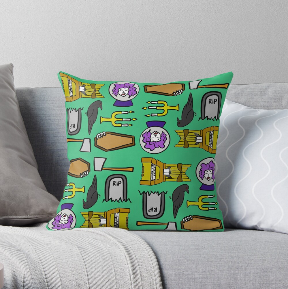 Spooks and Ghouls Throw Pillow