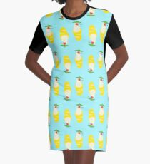 Summer Pineapple Float Graphic T-Shirt Dress