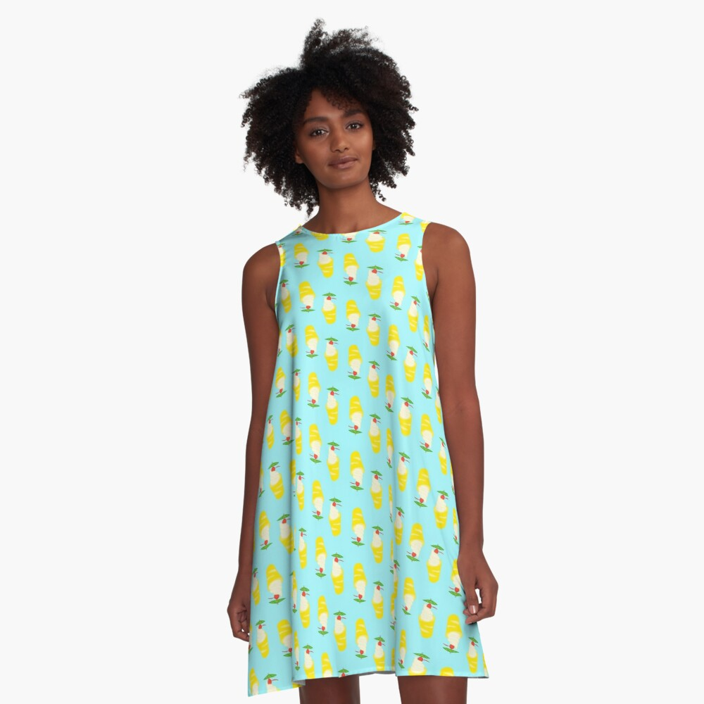 Summer Pineapple Float A-Line Dress