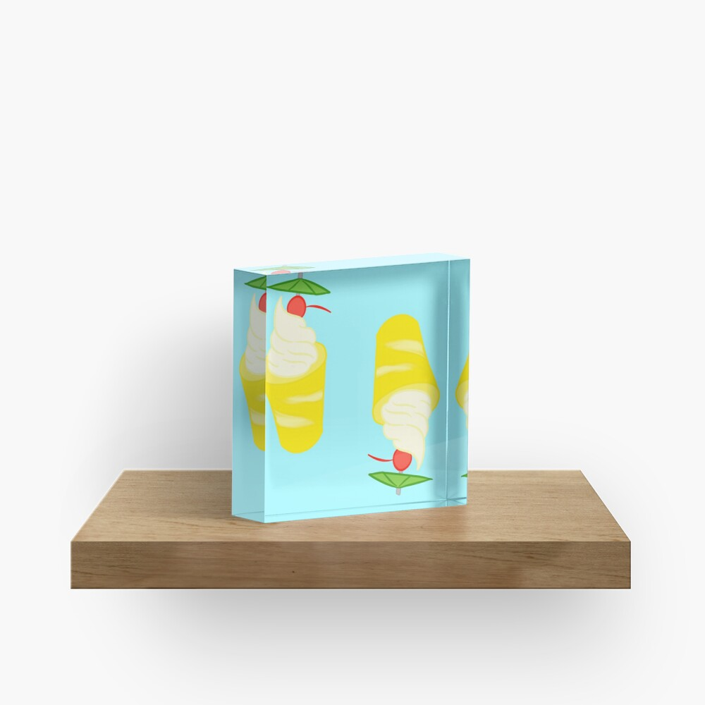 Summer Pineapple Float Acrylic Block