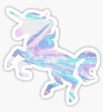 Pegatina Sin borde Holo Unicornio