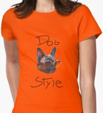 Pug t-shirt - Dog Style Womens Fitted T-Shirt