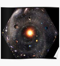 Hexagonal View of the Universe (original colors) Poster