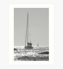 Newport Sailboat Art Print