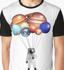 Astronaut Balloons Graphic T-Shirt