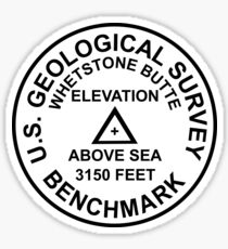 Whetstone Butte, North Dakota USGS Style Benchmark Sticker