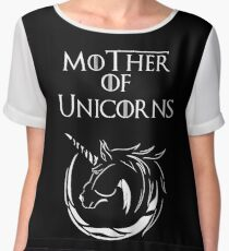 MK Mother of Unicorns (White) Chiffon Top