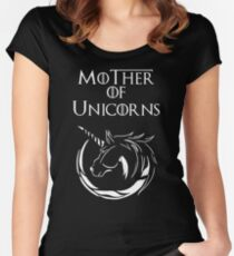 MK Mother of Unicorns (White) Women's Fitted Scoop T-Shirt