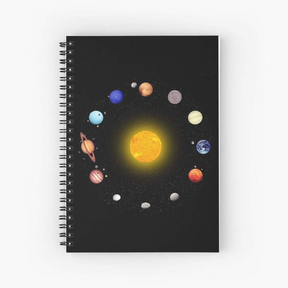 Space Pattern Spiral Notebook