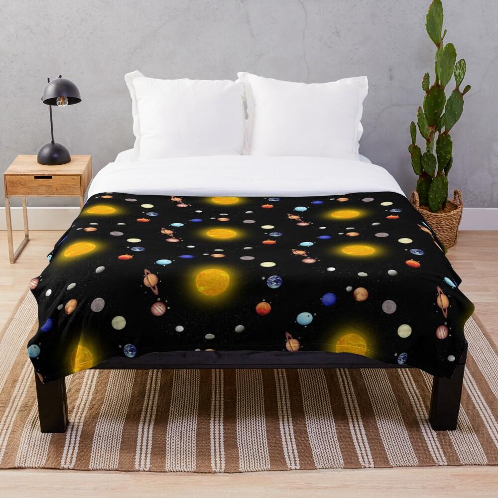 Space Pattern Throw Blanket